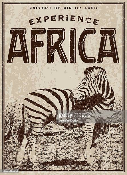 vintage victorian style classic experience africa advertisement - safari stock illustrations, clip art, cartoons, & icons