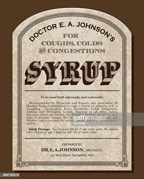 Vintage Victorian Style Cough Syrup Label
