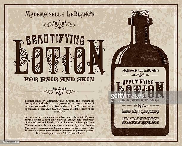 Vintage Victorian Style Lotion Advertisement