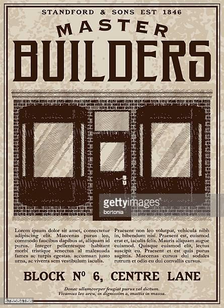 Vintage Victorian Style Master Builders Advertisement