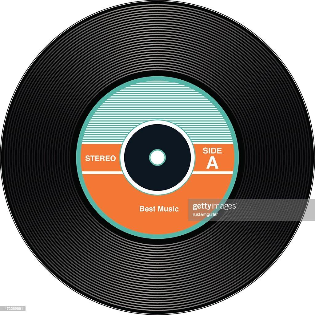 Vintage Vinyl Records stock illustration - Getty Images