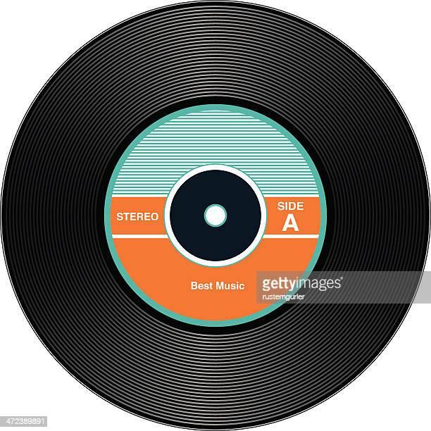 vintage vinyl records - plastic stock illustrations