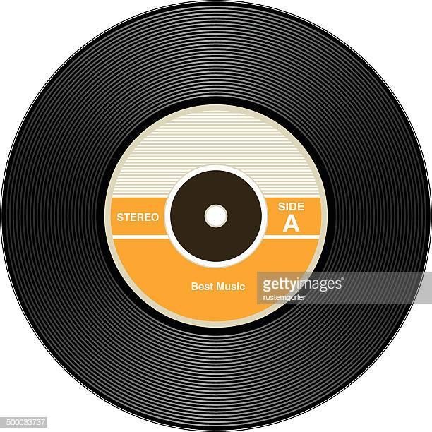 ビンテージビニールレコード - アナログレコード点のイラスト素材/クリップアート素材/マンガ素材/アイコン素材