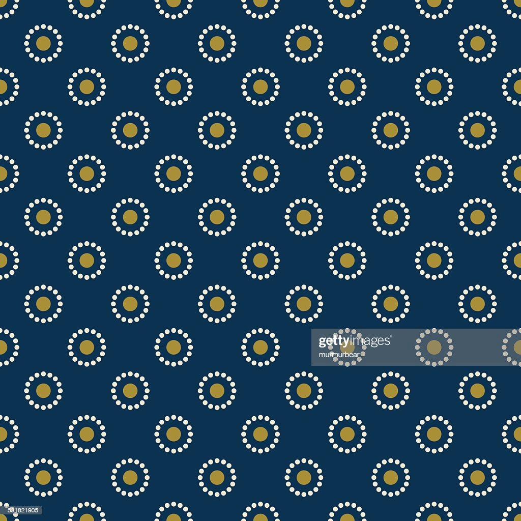 vintage wallpaper pattern of dots.