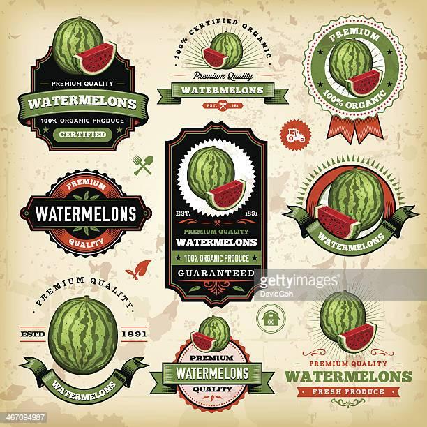 Vintage Watermelon Labels