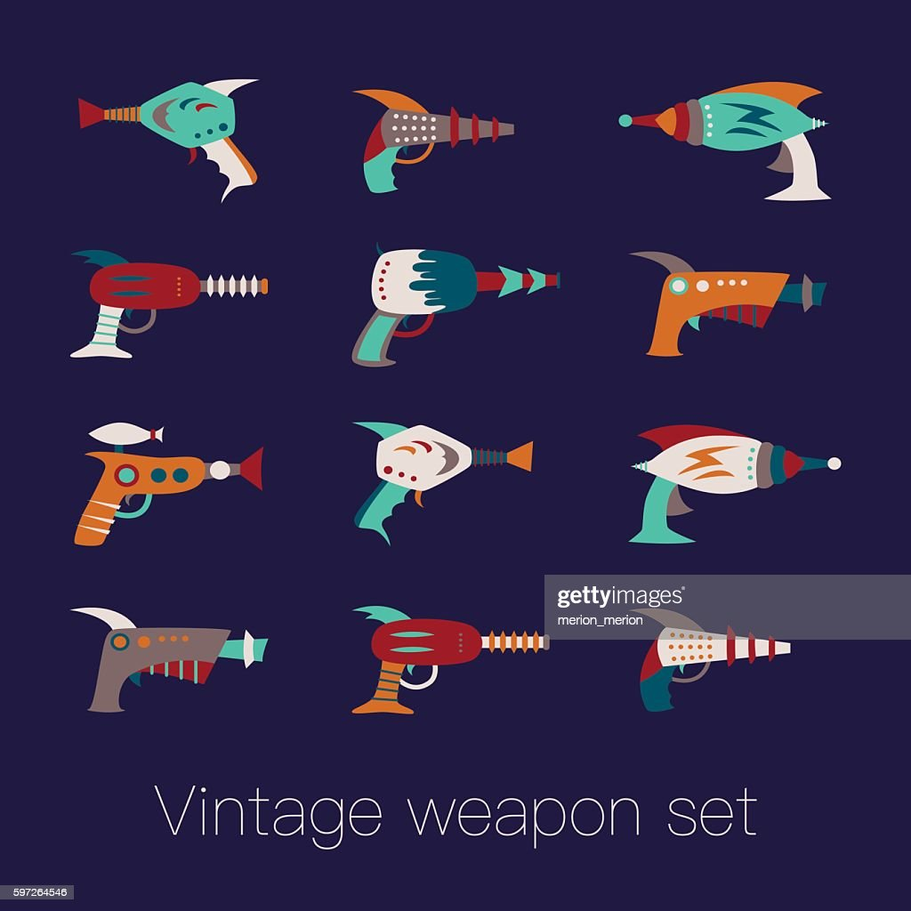 Vintage weapon set