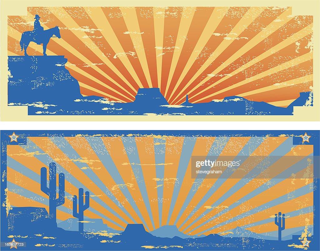 Vintage-Western-Labels : Stock-Illustration