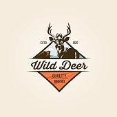 Vintage wild nature label