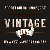 Vintage wild west alphabet font