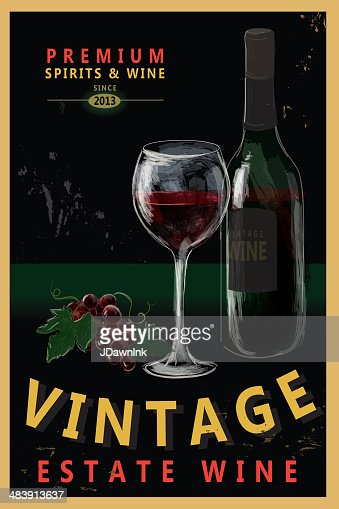 Vintage Wine Poster Design Vector Art | Getty Images