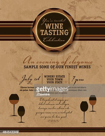 Wine tasting invitation or menu design template vector art getty keywords pronofoot35fo Images