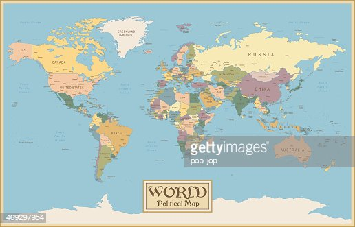 Old vintage retro world map vector art getty images keywords gumiabroncs Image collections