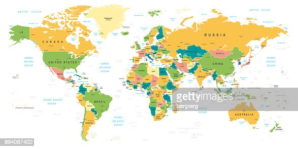 World map vintage vector illustration vector art getty images similar images gumiabroncs Image collections
