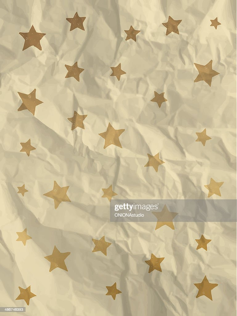 Vintage wrapping paper with stars