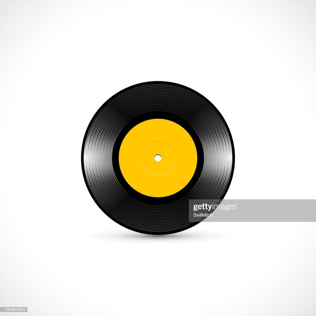 Vinyl disc 7 inch EP with shiny tracks