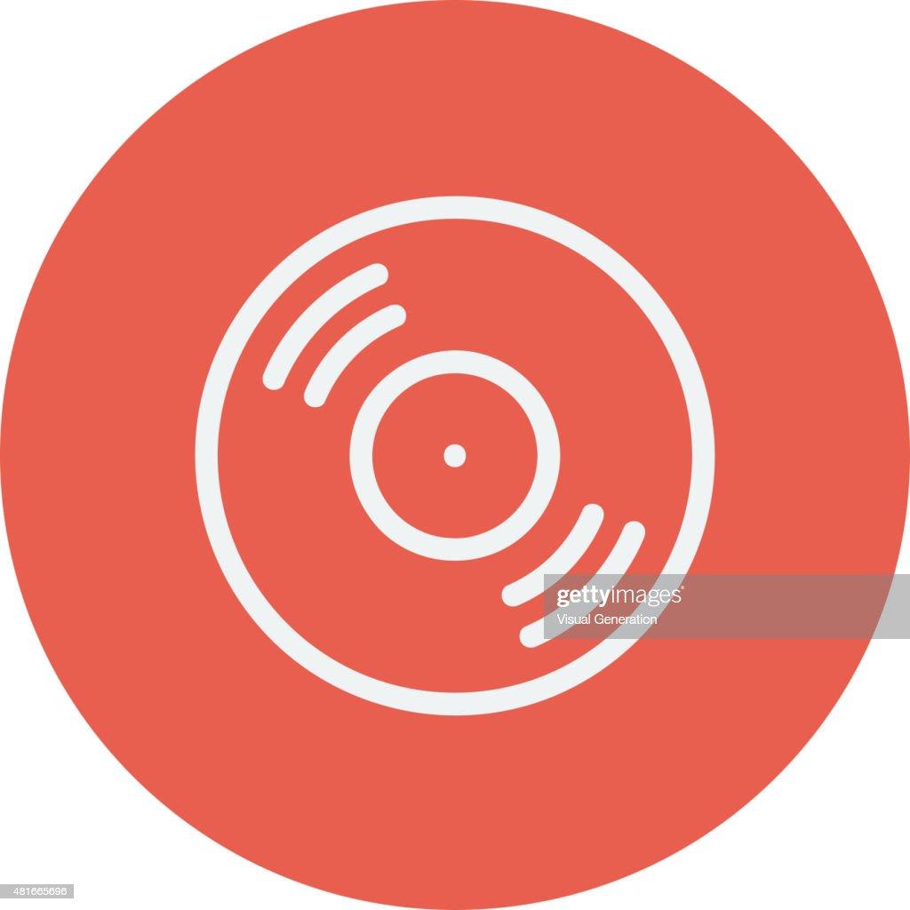 Vinyl disc thin line icon