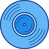 Vinyl disk line icon