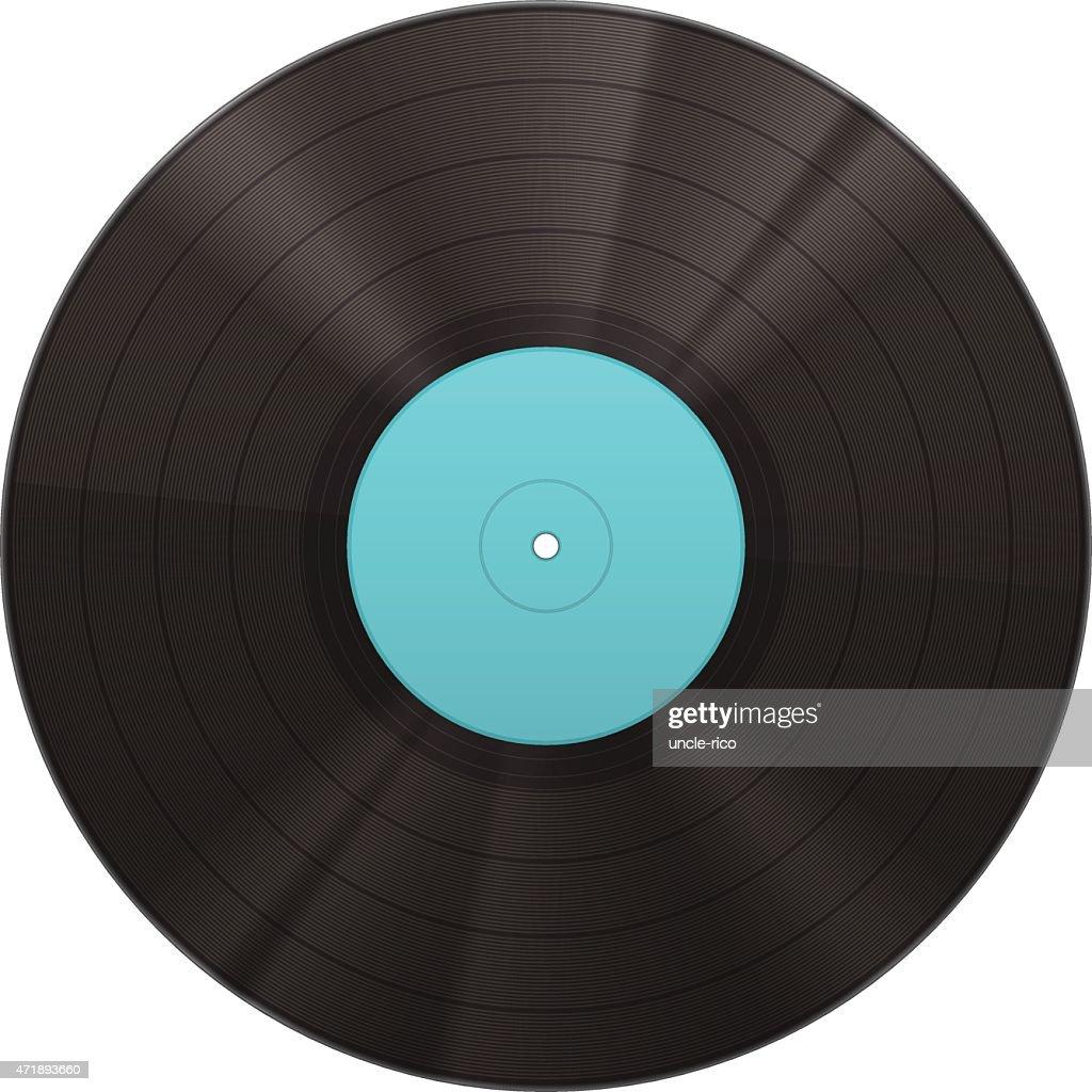 Vinyl music disk