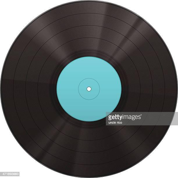 stockillustraties, clipart, cartoons en iconen met vinyl music disk - vinylplaat