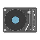Vinyl player illustration.
