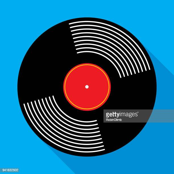 vinyl record album icon - gramophone stock illustrations, clip art, cartoons, & icons