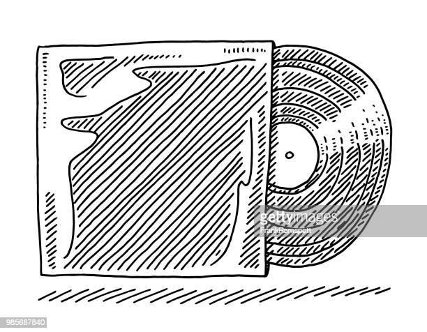 Vinyl und Cover-Zeichnung