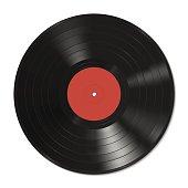 Vinyl record template