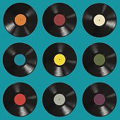 Vinyl records pattern