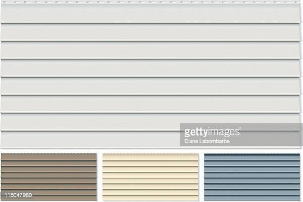 Vinyl Siding Clapboard Sample Set Done in Four Different Colors