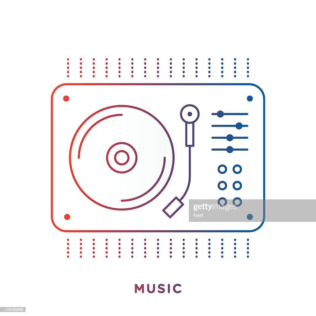 Vinyl Turntable Symbol