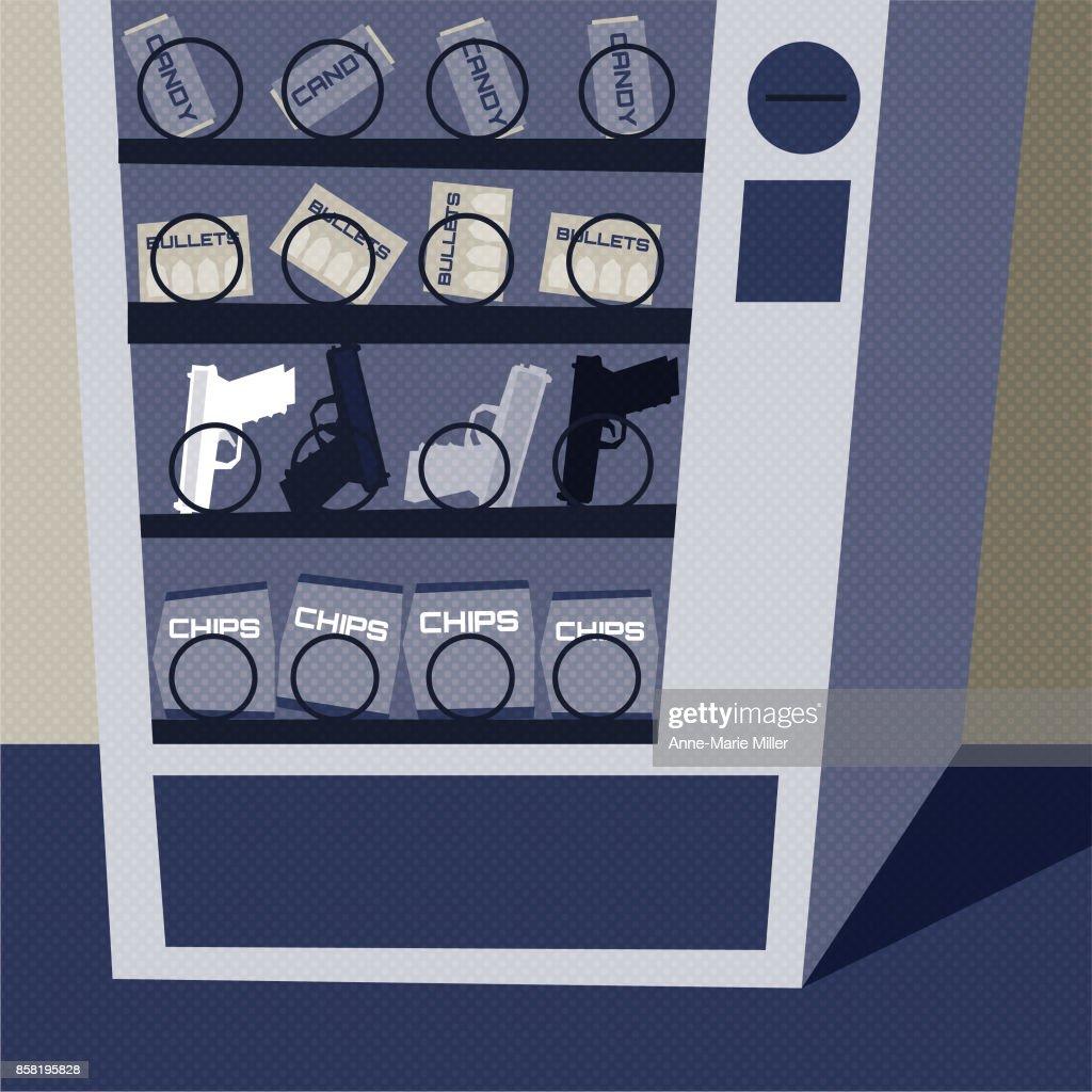 Violence - guns in vending machine