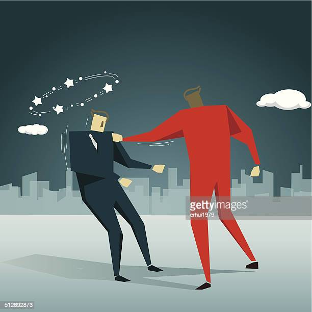 violence - knockout stock illustrations, clip art, cartoons, & icons
