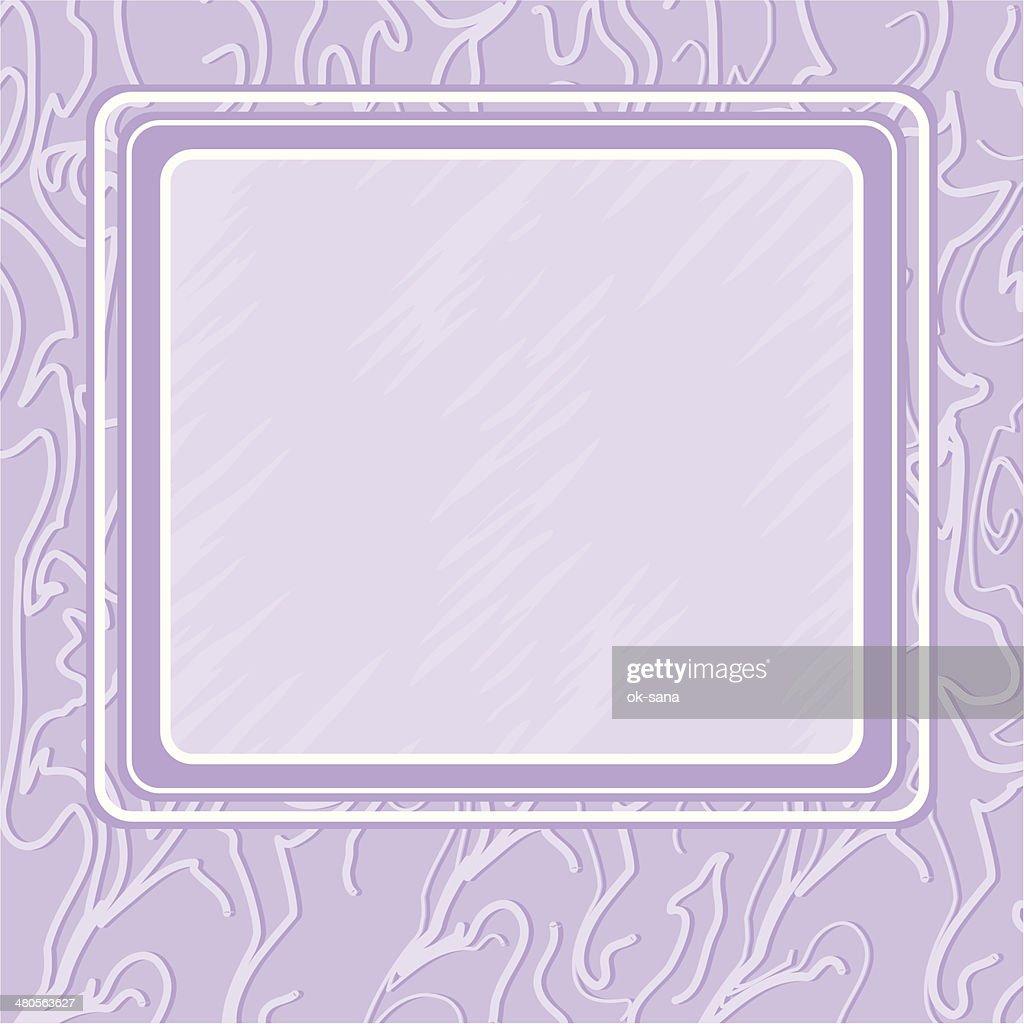 Violet background with frame : Vector Art