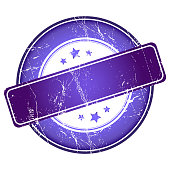 Violet guarantee stamp.