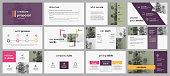 Violet infographic elements for presentations.