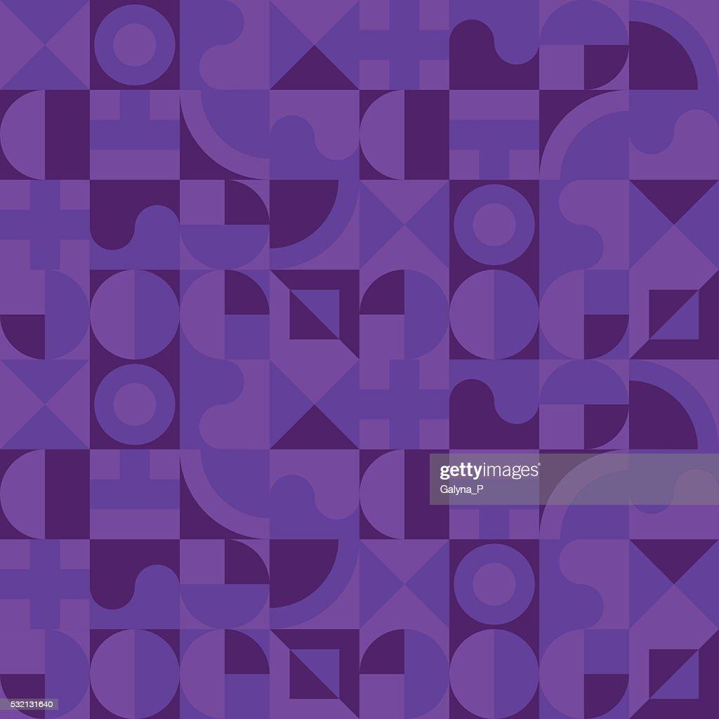 violet night geometry seamless pattern