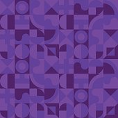 violet night geometry seamless pattern