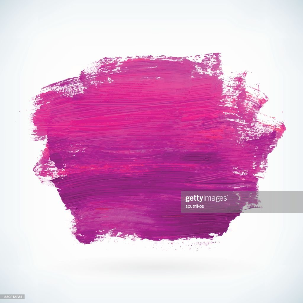 Violet paint artistic dry brush stroke vector background