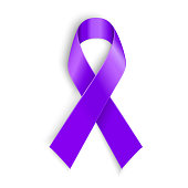 Violet ribbon as symbol of Hodgkin Disease awareness