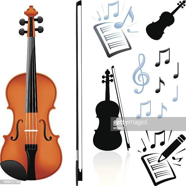 violin and music - violin stock illustrations, clip art, cartoons, & icons