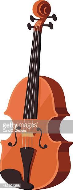 violin cartoon - violin stock illustrations, clip art, cartoons, & icons