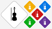 Violin Color Diamond Vector Icon