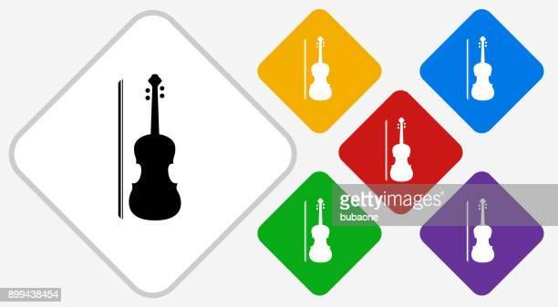 violin color diamond vector icon - violin stock illustrations, clip art, cartoons, & icons