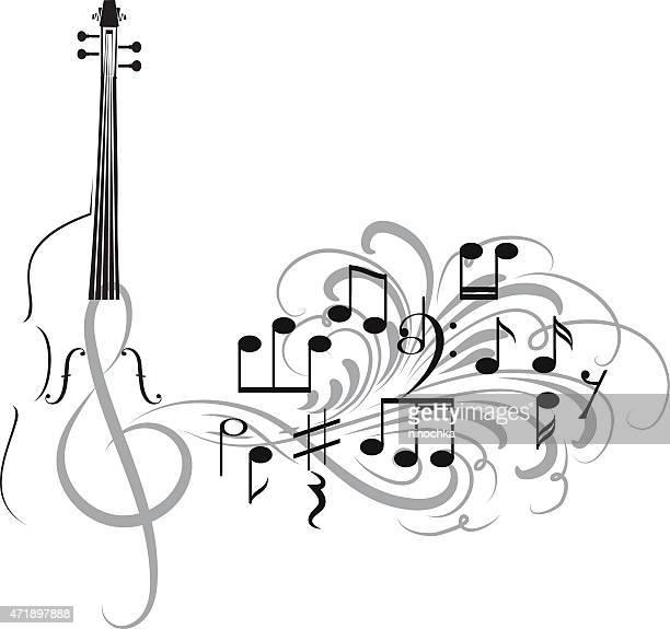 violin design - violin stock illustrations, clip art, cartoons, & icons