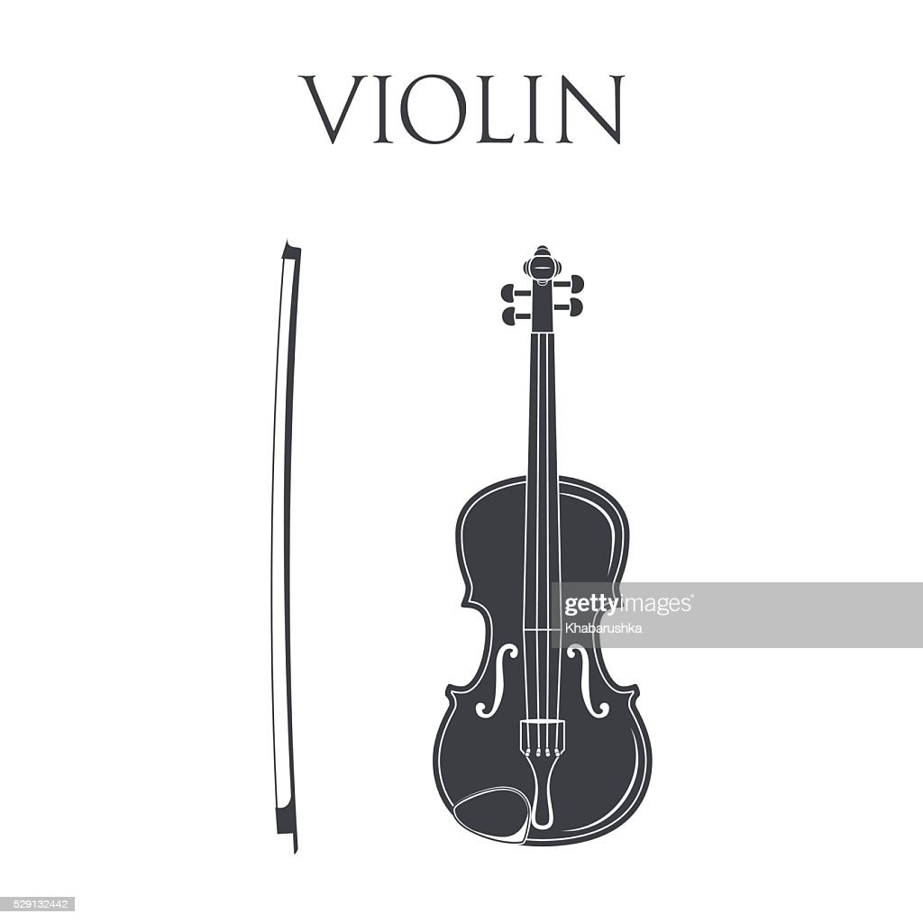 Violin. Isolated On White Background.