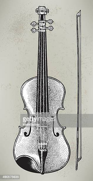 violin or fiddle - muscial instrument - violin stock illustrations, clip art, cartoons, & icons