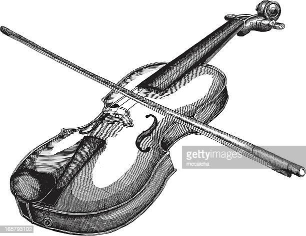 violin - violin stock illustrations, clip art, cartoons, & icons