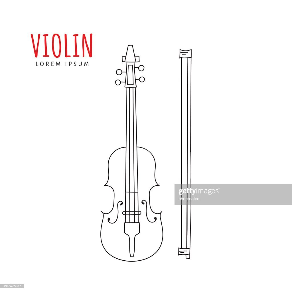 Violin vector illustration.