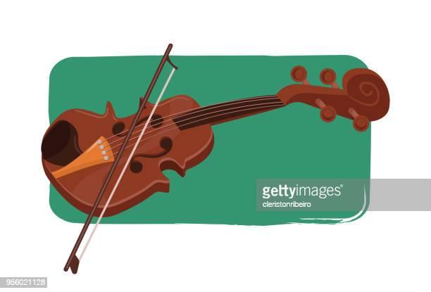 violino - violin stock illustrations, clip art, cartoons, & icons