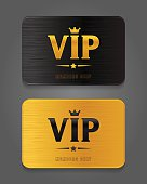 Vip Cards with metal background